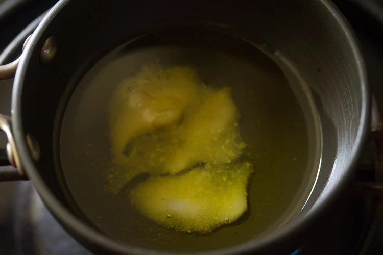oil in a tadka pan
