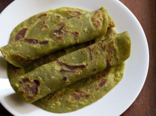 aloo palak paratha recipe