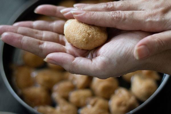 press soaked vadas for dahi vada recipe