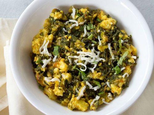 palak paneer bhurji recipe