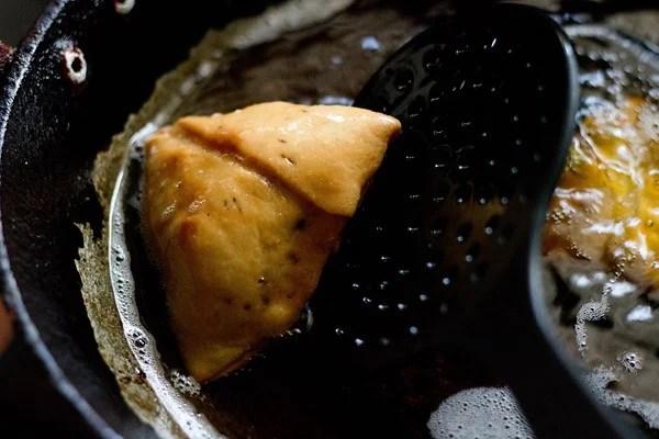 frying - samosa recipe