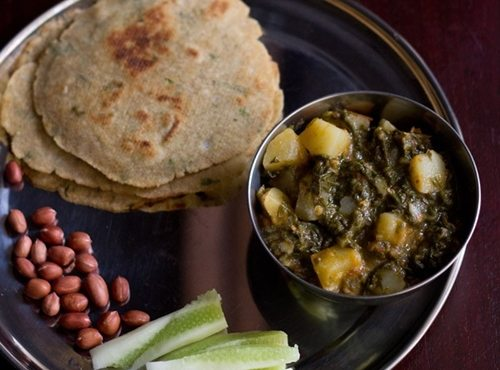 aloo palak sabzi recipe for fasting