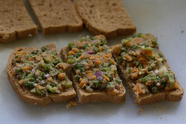 bread for veg sesame toast recipe