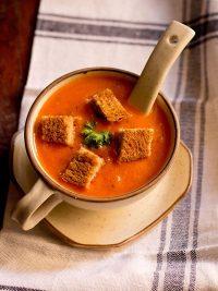 tomato soup recipe, how to make tomato soup (restaurant style)