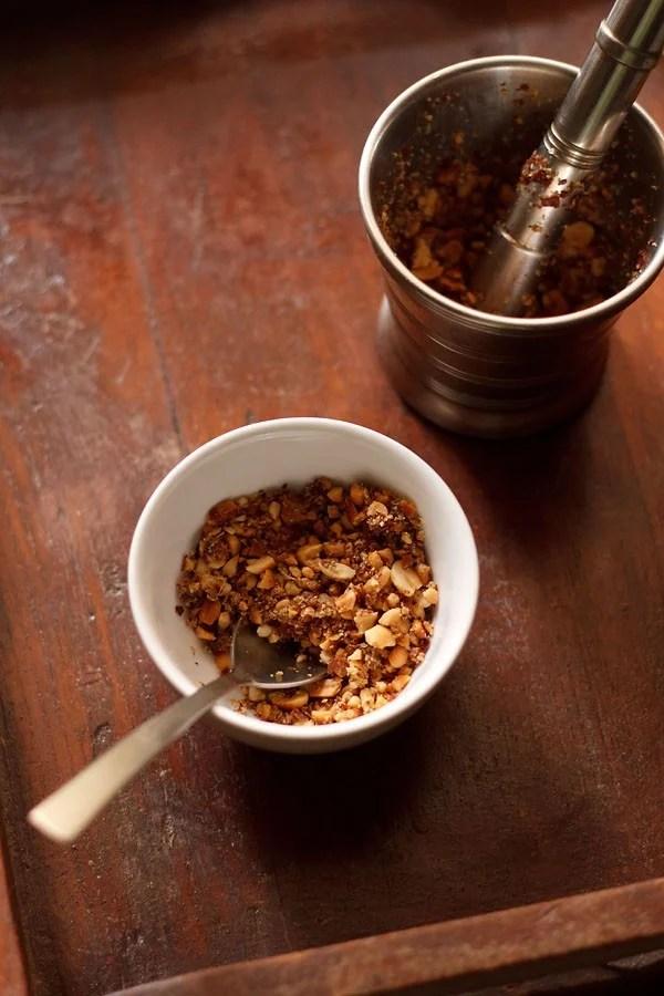 peanut thecha recipe, shengdanayacha thecha recipe