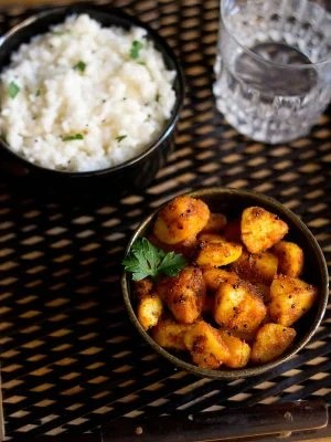 potato roast recipe, aloo roast recipe