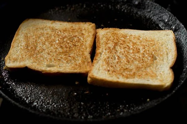 preparing rava toast recipe