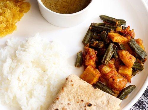 Punjabi aloo bhindi recipe