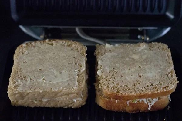 grilling potato sandwich