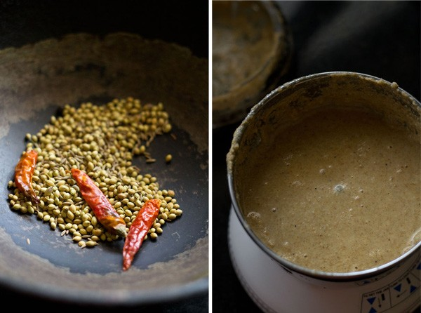 roasted spices for malabar spinach curry recipe