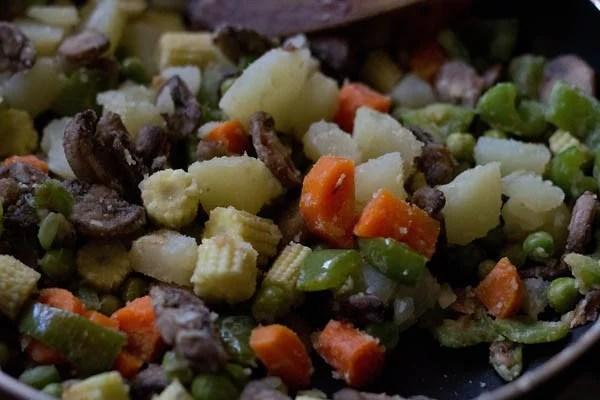 vegetables for veg pasta recipe