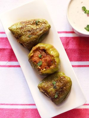 stuffed capsicum recipe, bharwan shimla mirch recipe