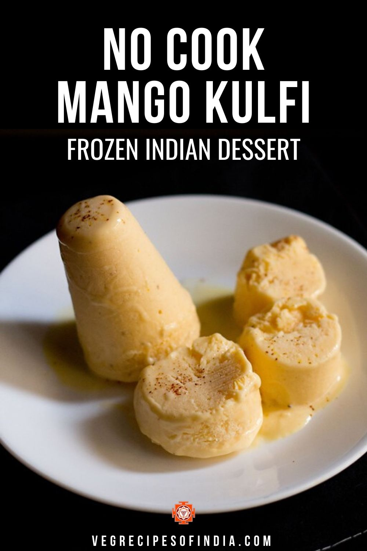 no cook mango kulfi