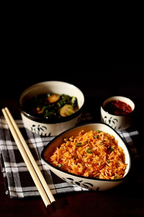 schezwan fried rice recipe, schezwan fried rice