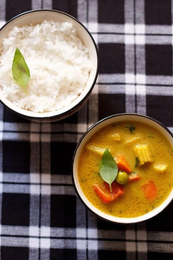 Thai yellow vegetable curry recipe