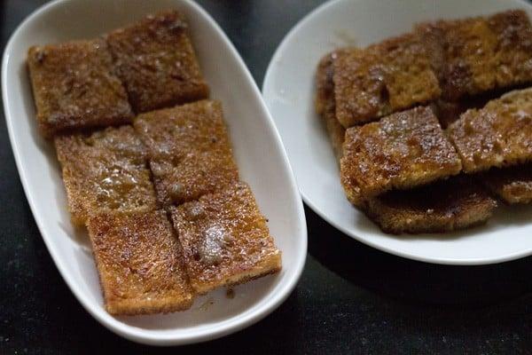 preparing shahi tukra recipe