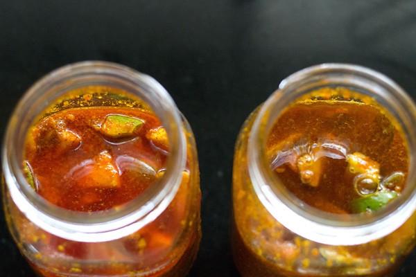 making gujarati methia keri pickle recipe