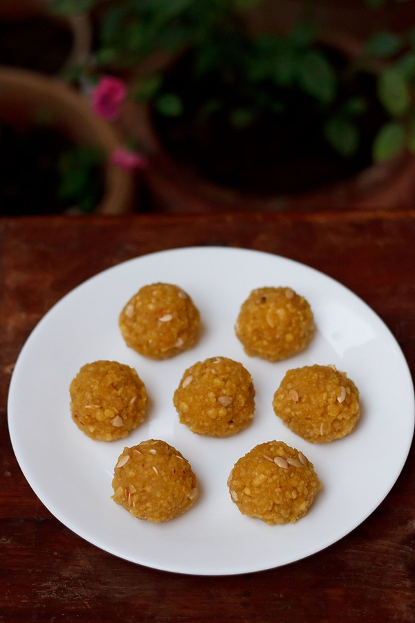 motichoor ladoo recipe, motichur laddu recipe