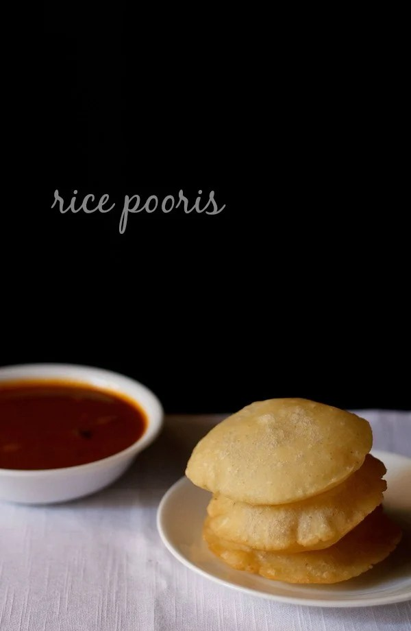 rice pooris recipe, tandalache vade recipe