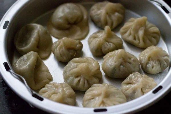 steamed veg momos, momos recipe