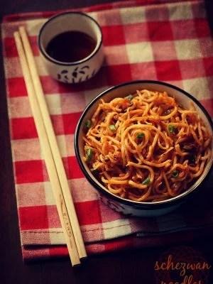 schezwan noodles, schezwan noodles recipe