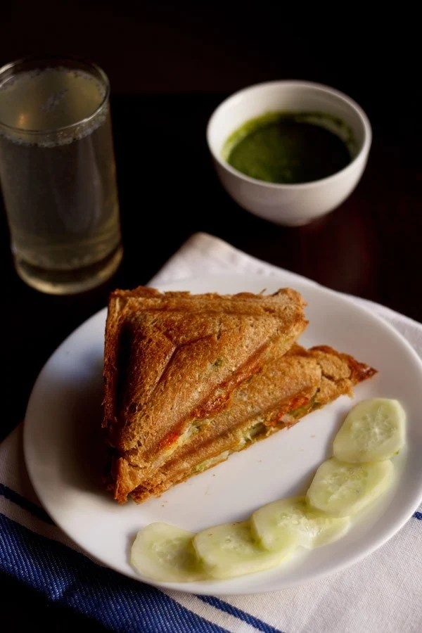 Veg Cheese Toast Sandwich