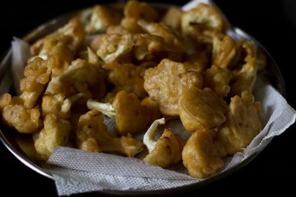 gobi florets - making gobi manchurian dry recipe