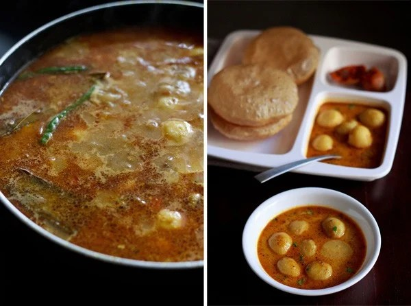 making Banarasi dum aloo recipe