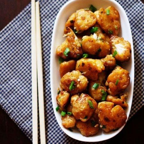 gobi manchurian dry recipe, cauliflower manchurian dry recipe