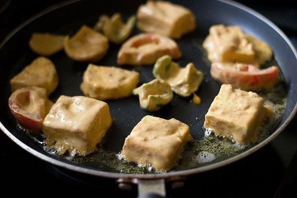 frying paneer for paneer tikka recipe