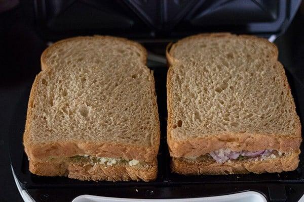 cover veg cheese sandwich