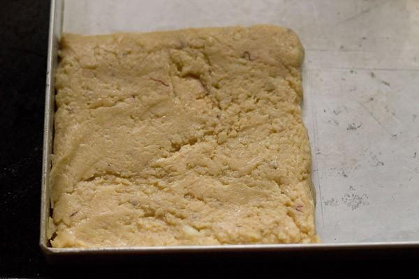spread paneer barfi mixture