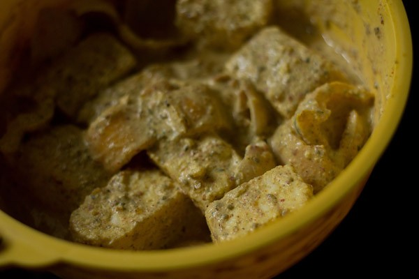 marinated paneer for achari paneer tikka recipe