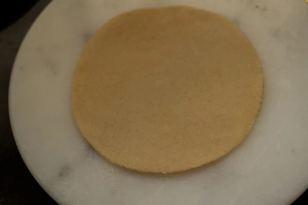roll gujiya dough - preparing gujiya recipe