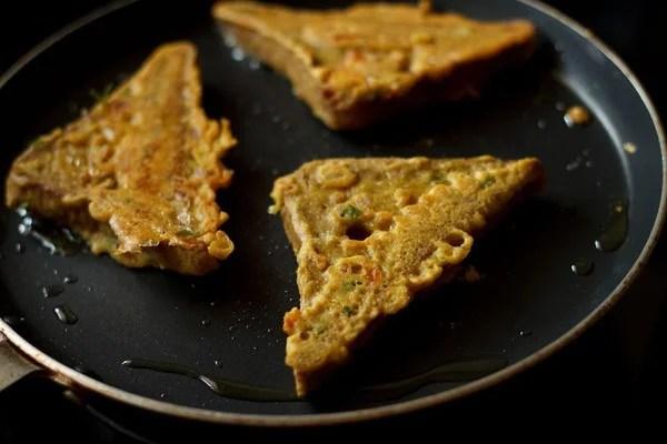 making bread besan toast recipe
