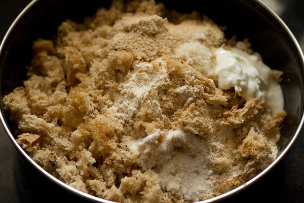 making dough for bread bhatura recipe