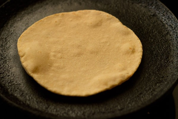 cooking butter naan