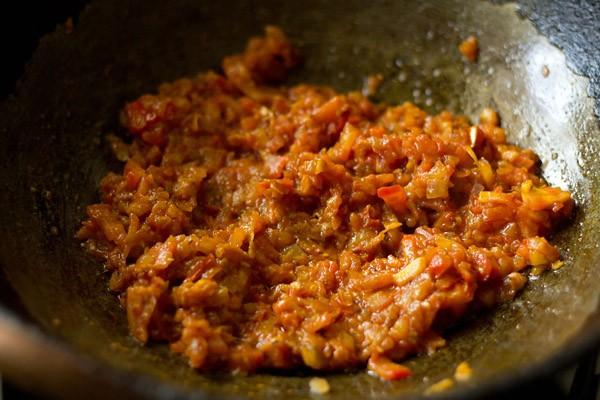 sauting kadai chole masala