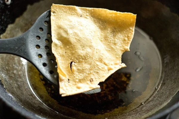 fried papad for masala papad recipe