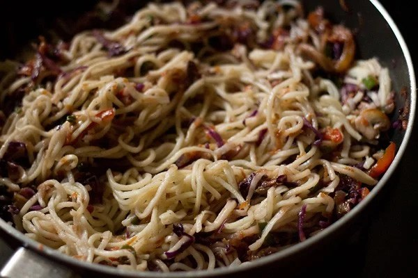 stir vegetable chow mein noodles recipe