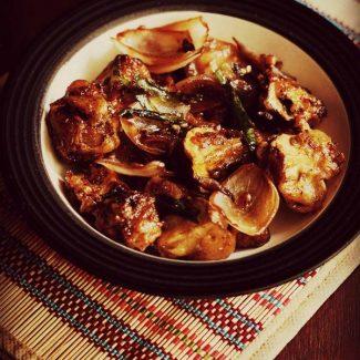 Chilli Mushroom Dry and Gravy