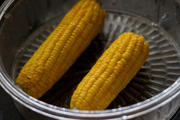 boiled corn for making veg sweet corn soup recipe