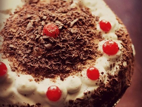 eggless black forest cake recipe