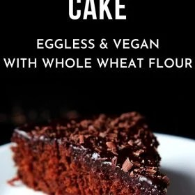 eggless chocolate cake-