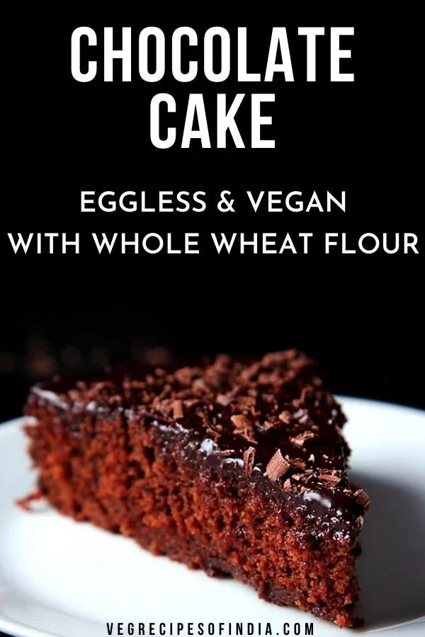 eggless chocolate cake-