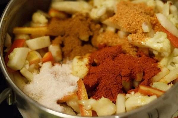 spices - gobi shalgam gajar achar recipe
