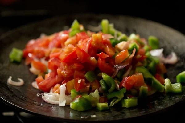 vegetables for paneer khurchan recipe