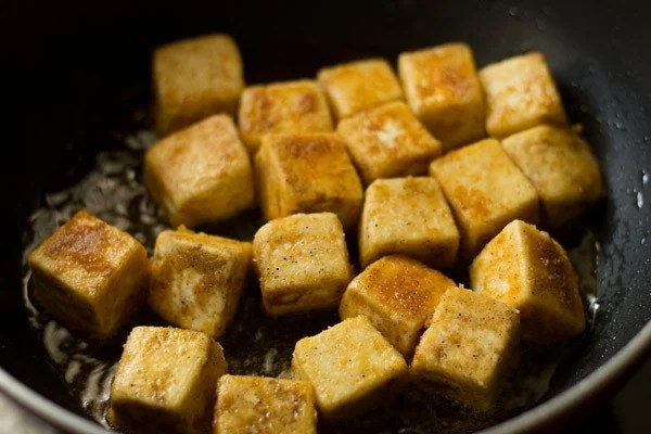 pan fried paneer for manchurian recipe
