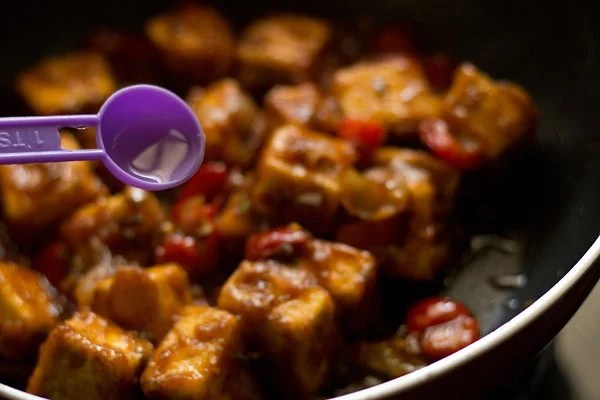 vinegar for paneer manchurian dry recipe