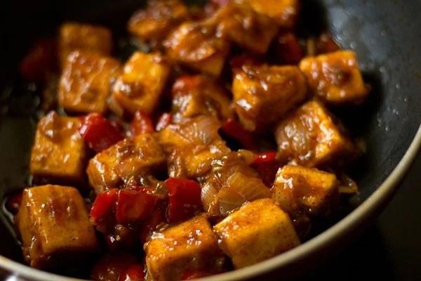 dry paneer manchurian recipe, dry paneer manchurian recipe
